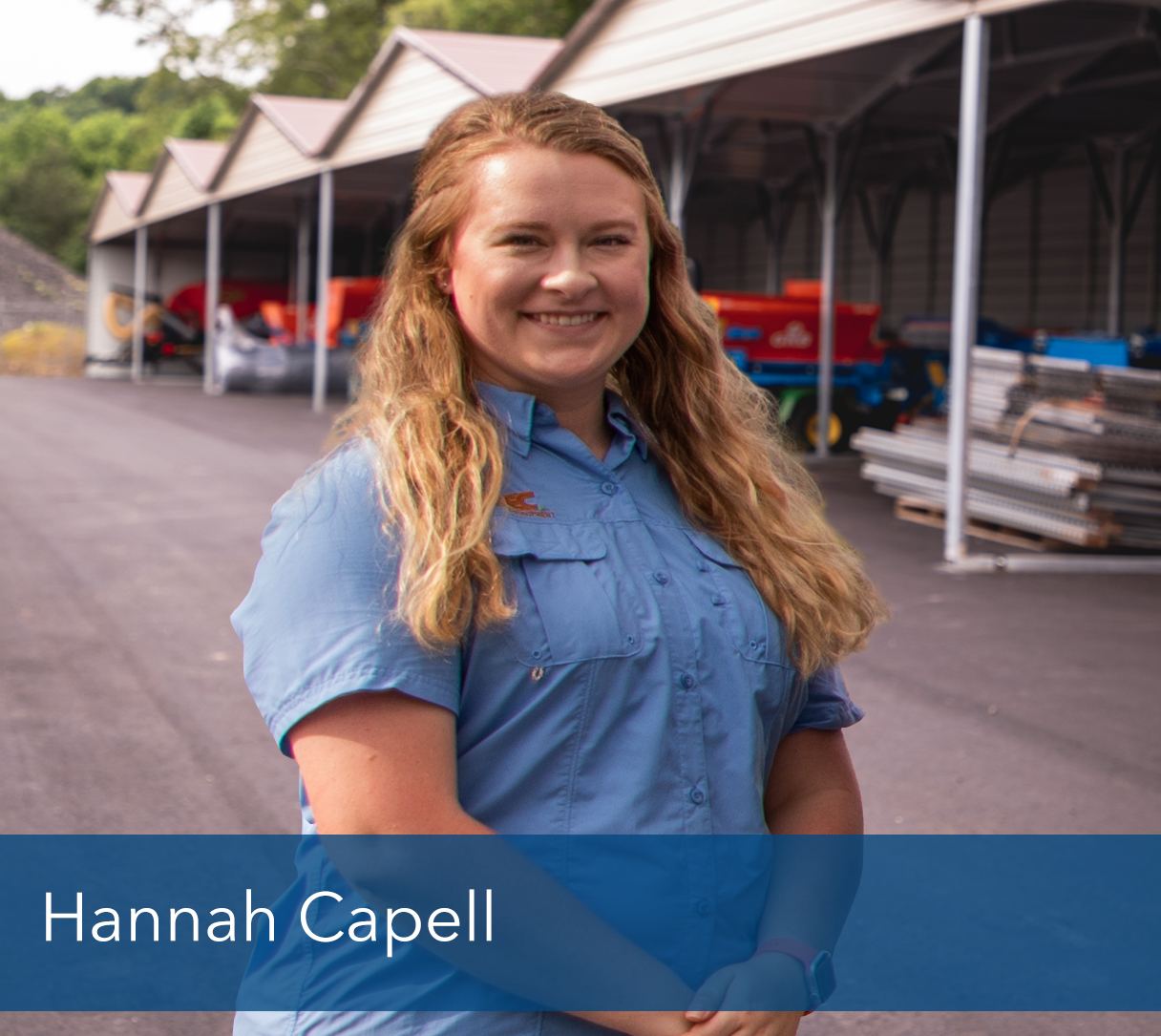 "<b>Hannah Capell</b>, Office Manager <br><p></p>      Hannah ""keeps"" the office moving, organized and on task, helping everyone at STEC be more efficient and effective in their pursuits.<p></p>       Hannah was born and raised on a beautiful farm in Pendleton SC and was heavily involved in the FFA while growing up. After graduating with a BS Degree from Anderson University in Financial Economics, she worked briefly in the banking industry before finding her ""new home"" at STEC Equipment.<p></p>      In her spare time Hannah enjoys hiking, camping & spending time on the family farm. With this passion for the outdoors, she has found the perfect pairing to expand her love of photography. Hannah has a date set in late in 2020 to wed her sweetheart, Luke. Hannah has been meticulously planning this long awaited special day and cannot wait to share it with their family and friends.<p></p>      ""Making sure each customer that walks through the door or calls in is greeted with respect is something that Hannah takes great pride in. If they have a question or concern, she will make sure they get an answer or will find someone who can answer their question. Customer service can be something that is taken for granted, but Hannah takes great pride her role as Office Manager.<p></p> ""Opportunity is missed by most people because it is dressed in overalls and looks like work.""<br> – Thomas Edison"